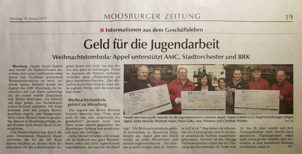 Zeitung Moosburg Stadtorchester